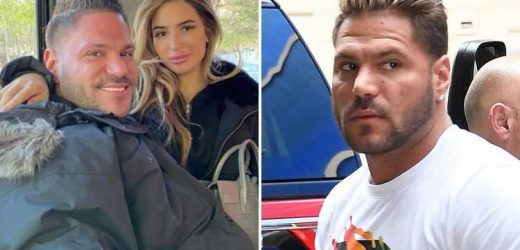 Jersey Shore's Ronnie Ortiz-Magro hugs girlfriend Saffire Matos two weeks after he was arrested for domestic violence