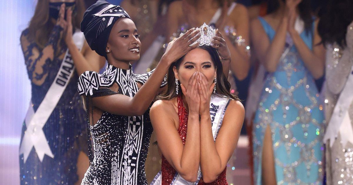 Miss Mexico can't contain excitement as she's crowned Miss Universe 2021