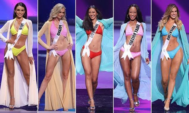 Miss Universe contestants swap 'political' national dress for bikinis