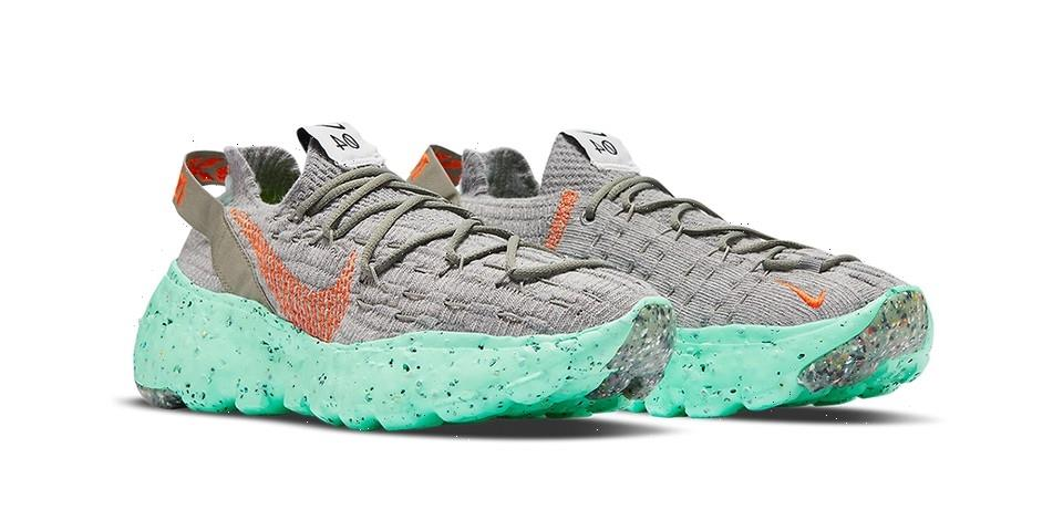 """Nike's Space Hippie 04 Launches With a """"Green Glow"""" Makeover"""