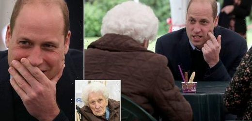 Prince William enjoys a flirty exchange with 96-year-old in Scotland