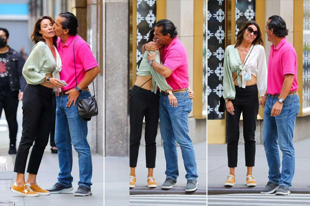 RHONY's Luann de Lesseps spotted getting a kiss from a mystery man