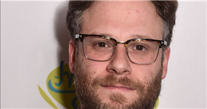 Seth Rogen unrecognisable as he shows off clean-shaven mullet look for new role