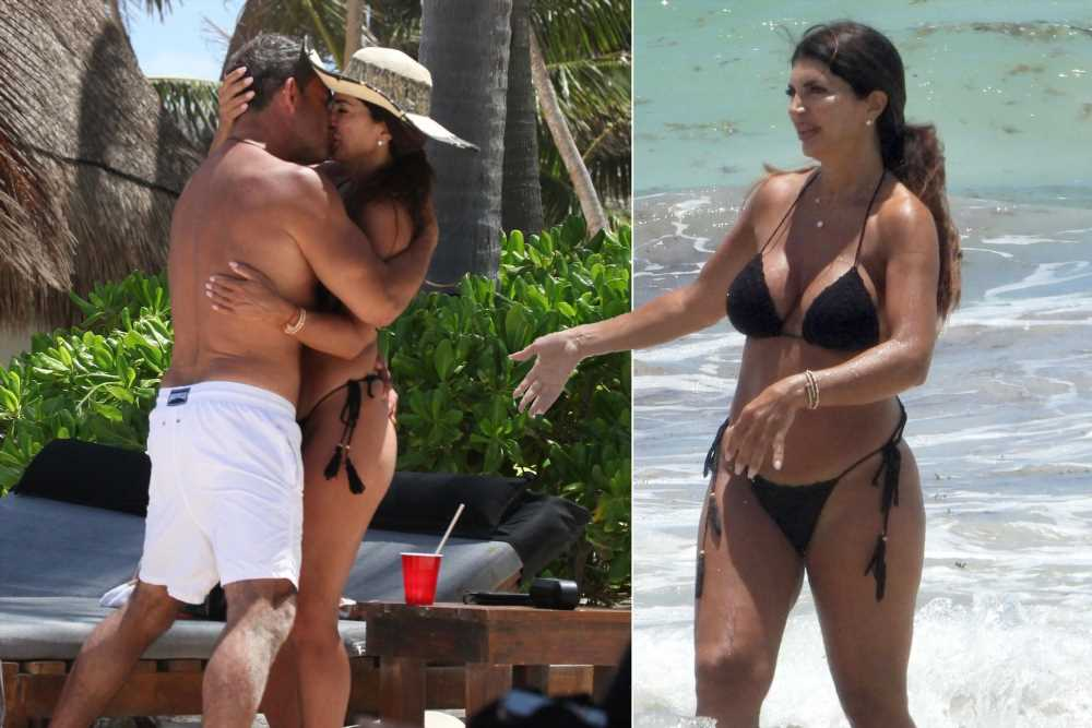 Teresa Giudice and BF Luis Ruelas pack on PDA on beach in Mexico