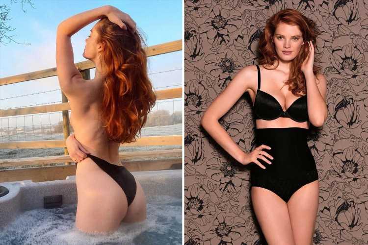 Victoria's Secret model Alexina Graham looks sensational in high-waisted black undies