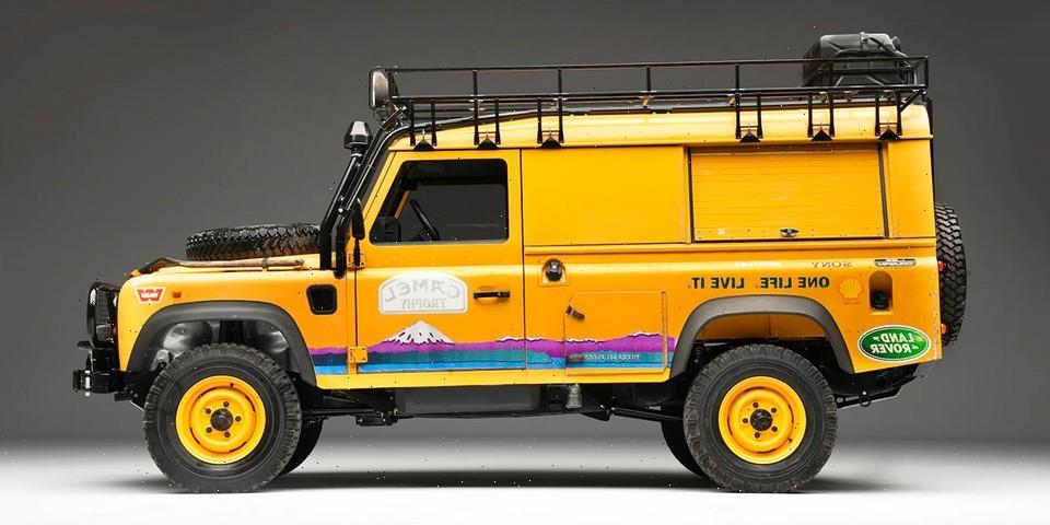 You Can Now Bid On This Rare 1998 Land Rover Defender 110 Camel Trophy