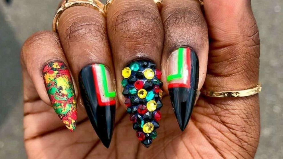 10 nail art looks that beautifully celebrate Juneteenth