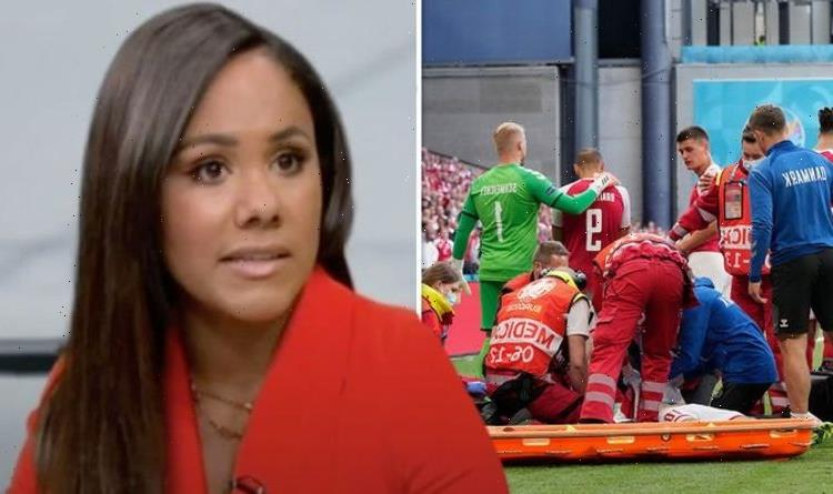 Emotional Alex Scott texts mum 'I love you' after Eriksen collapse as co-star apologises