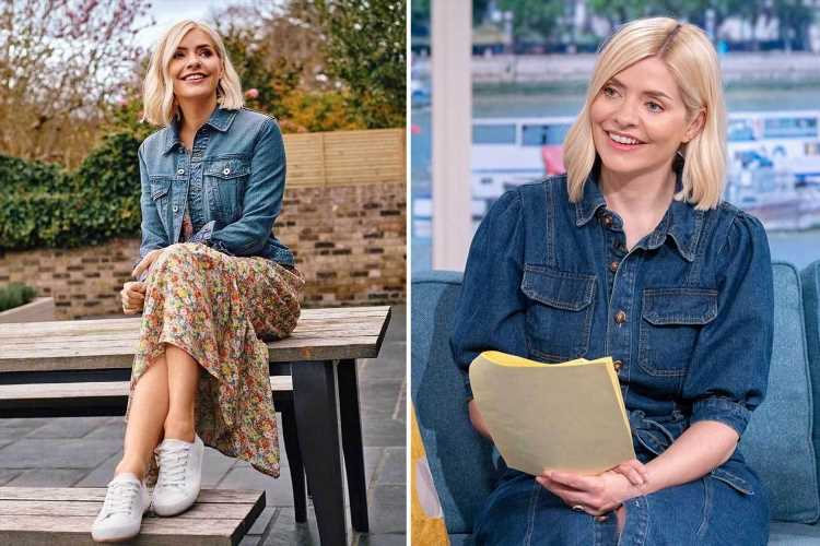 Holly Willoughby dresses down in a pretty summer dress on half term break from This Morning