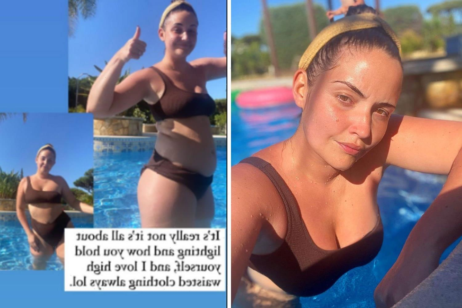 Jacqueline Jossa reveals body 'transformation' after using clever hack to pose in her bikini