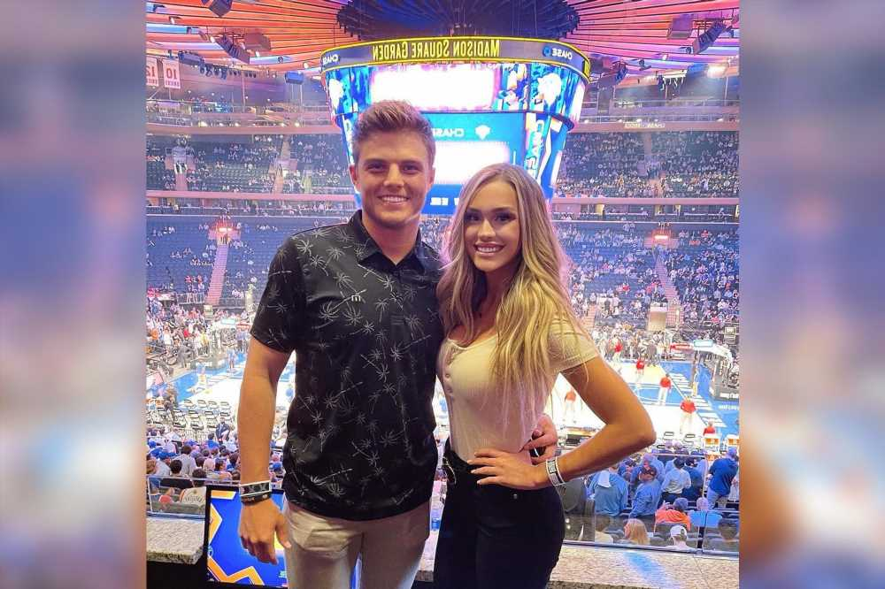 Jets QB Zach Wilson and Abbey Gile have Knicks-filled date night