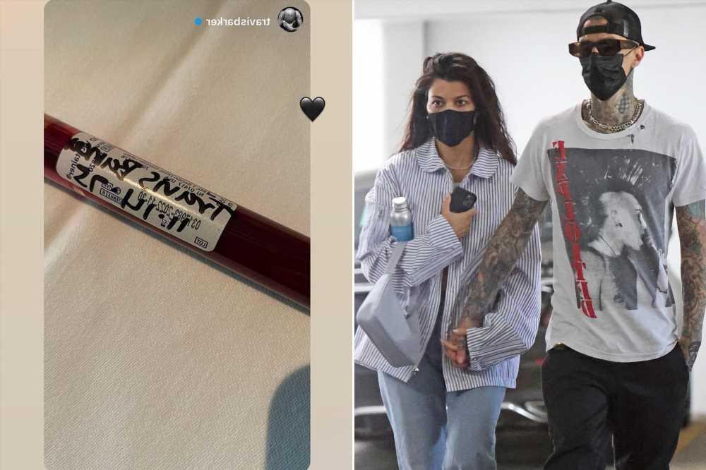Kourtney Kardashian shares photo of Travis Barker's blood in a vial