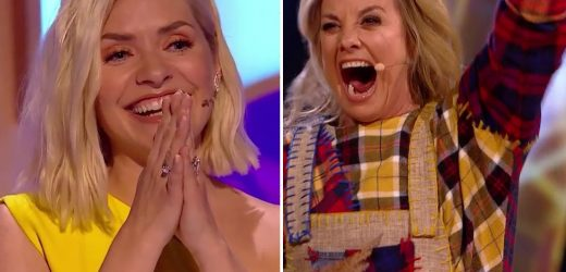 Masked Dancer stars Tamzin Outhwaite and relative Holly Willoughby shocked their kids with big reveal at family party