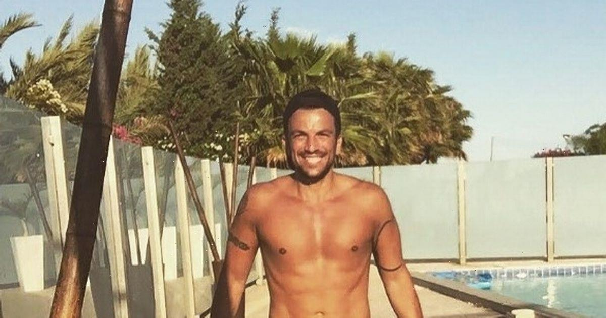 Peter Andre cosies up with NHS doctor wife for intimate sun-soaked garden snap