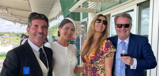 Piers Morgan and Simon Cowell reunite at Epsom with stunning partners