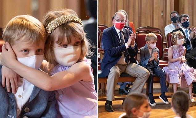 Prince Albert takes twins Gabriella and Jacques for day out atmuseum