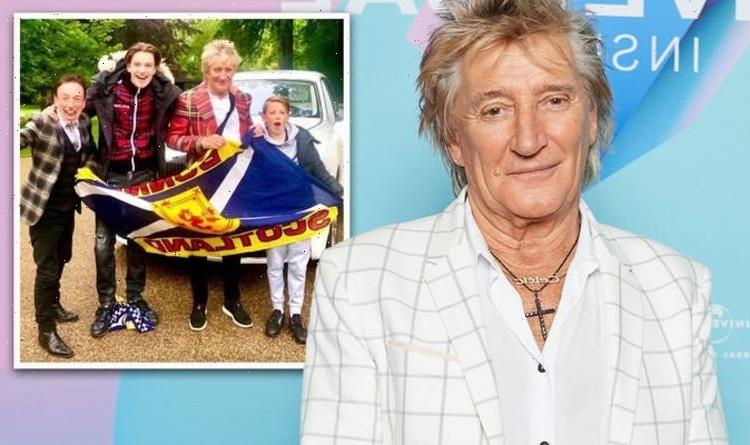 Rod Stewart claims he's a 'Cockney Scot' as he talks allegiances in Euro 2020