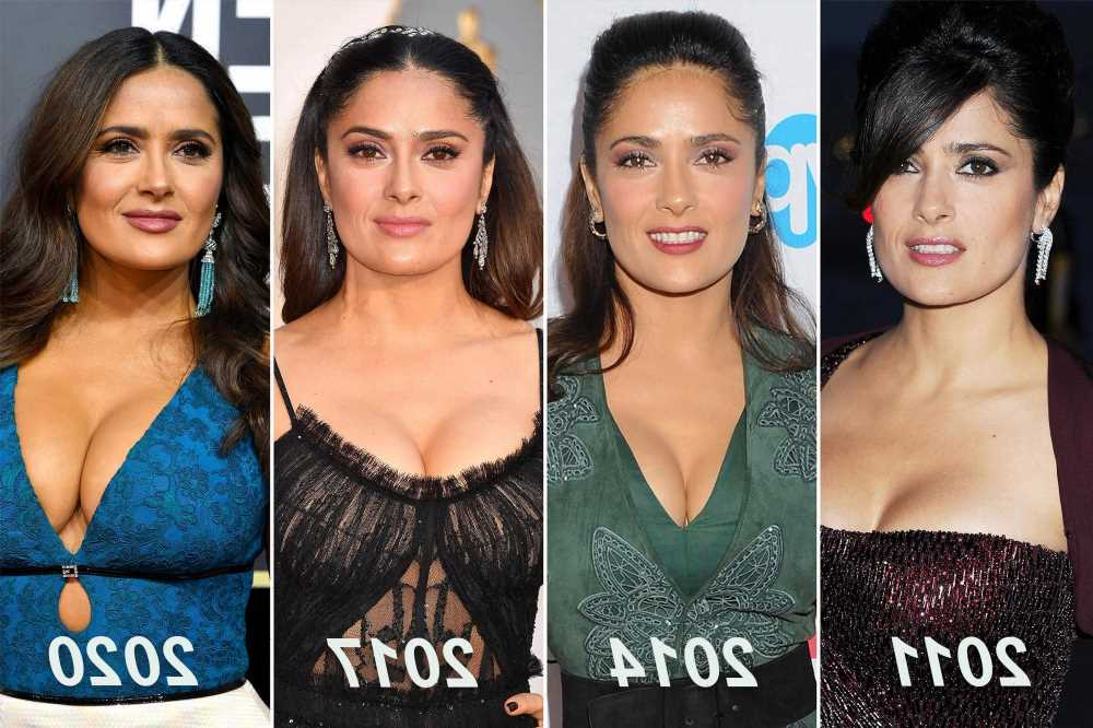 Salma Hayek: My breasts keep growing 'a lot' — but they're natural
