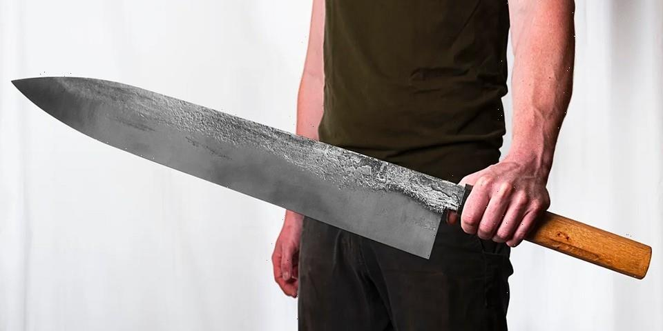 Watch Faraway Forge Craft the World's Largest Chef's Knife