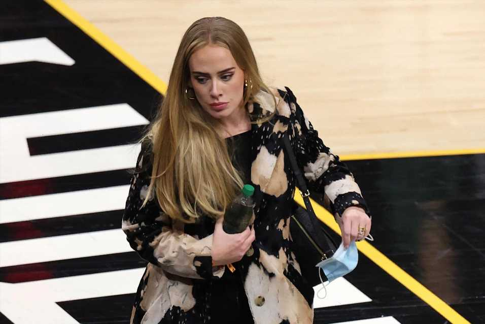 Adele makes a style slam dunk at NBA Finals