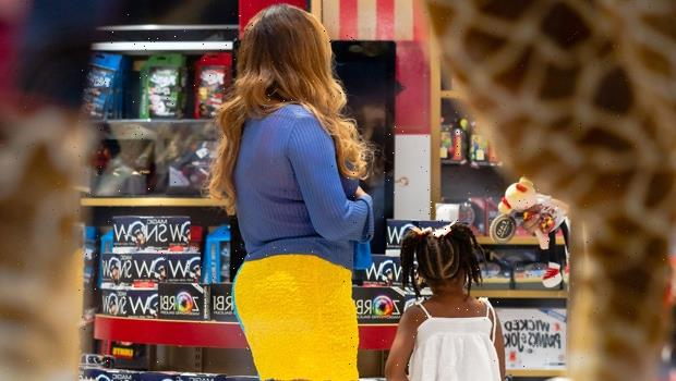 Beyonce Puts Colorful Mini Dress On Full Display In New Photos After Shopping Date With Rumi, 4
