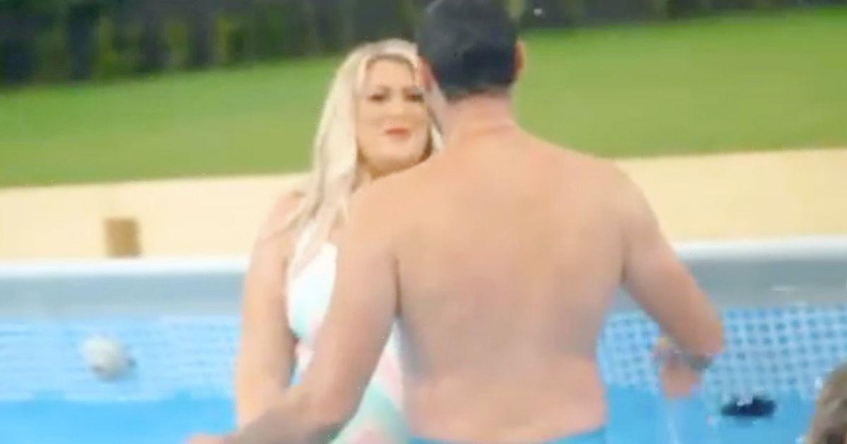 Gemma Collins shares steamy kiss with ex fiancé as they rekindle romance