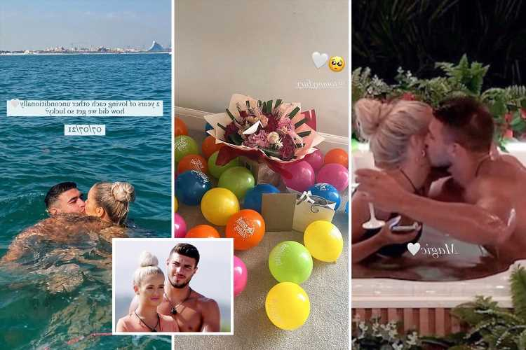 Inside Molly-Mae Hague's two-year anniversary celebration with Tommy Fury as she asks 'how did we get so lucky?'