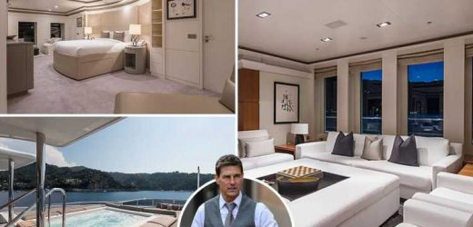 Inside Tom Cruise's incredible £32m super yacht as he holidays in Cornwall after break from Mission Impossible filming