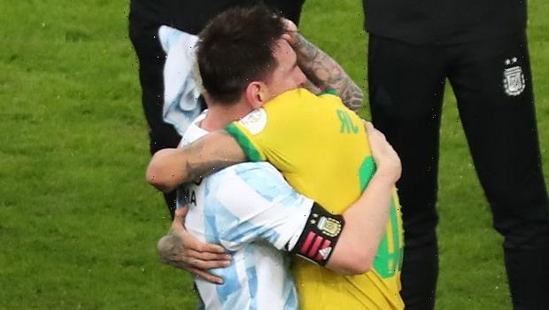 Lionel Messi Embraces Former Teammate Neymar After Argentina Beats Brazil In Copa America Cup