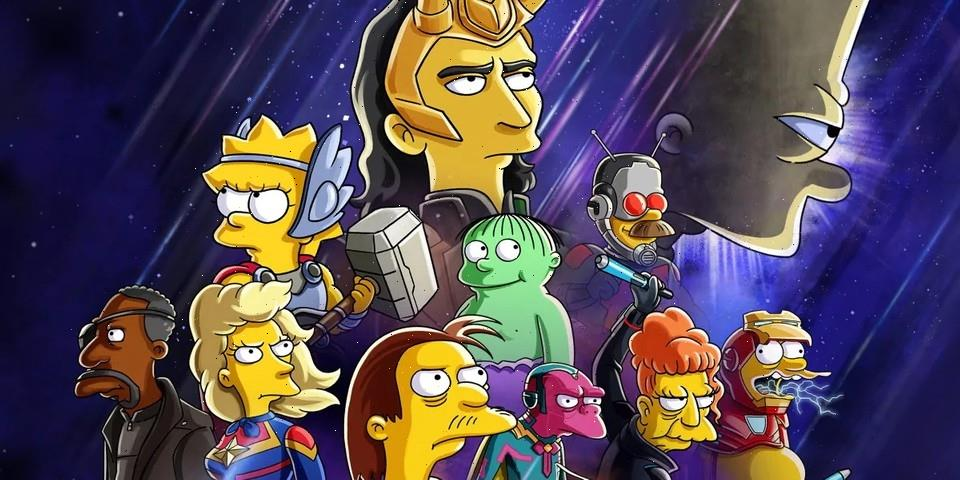 Loki Travels to Springfield to Join the Simpsons In Latest Crossover Short
