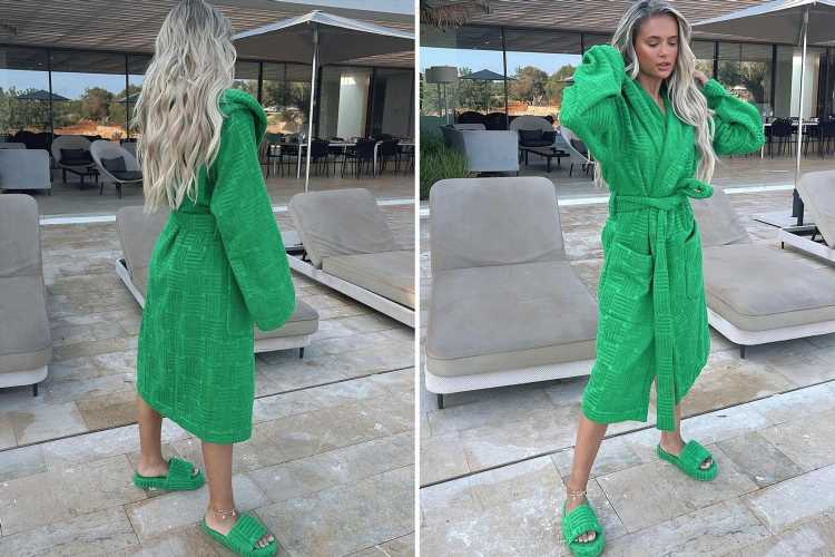 Molly-Mae Hague wows in designer £370 sliders and matching £370 dressing gown on 'exciting' trip to Ibiza