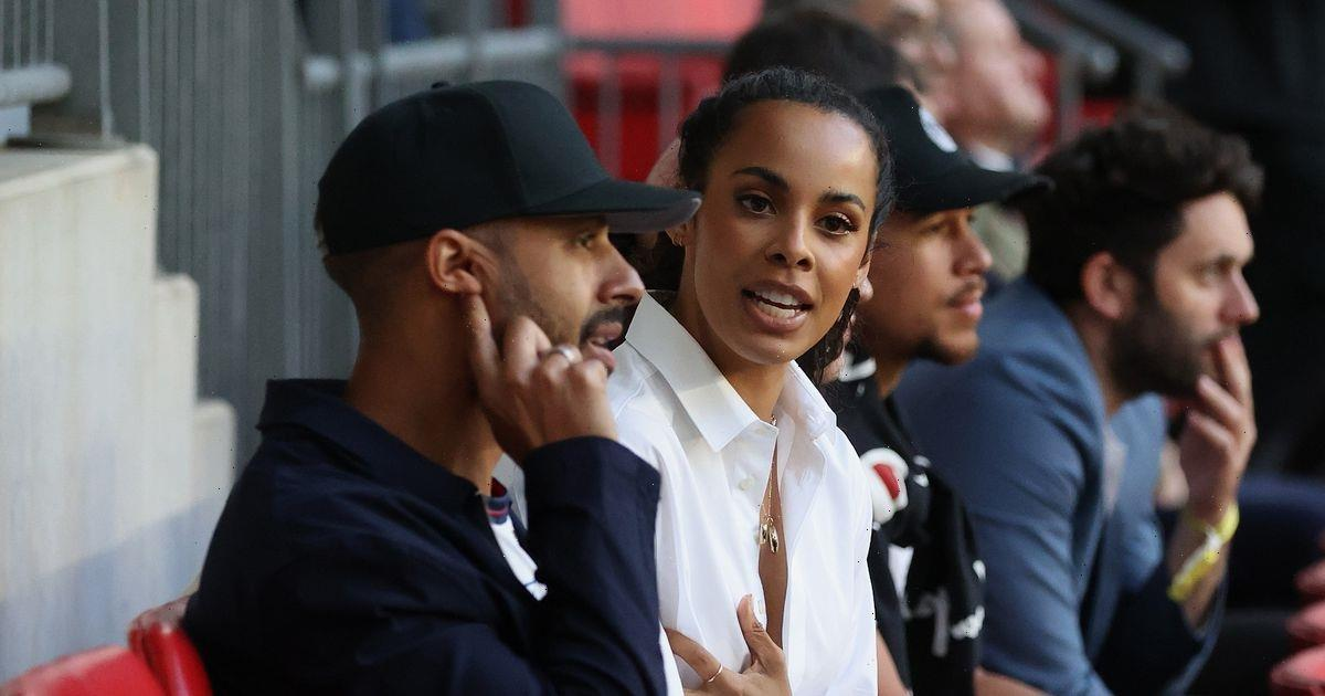 Rochelle Humes enjoys a date night to remember with husband Marvin at Wembley
