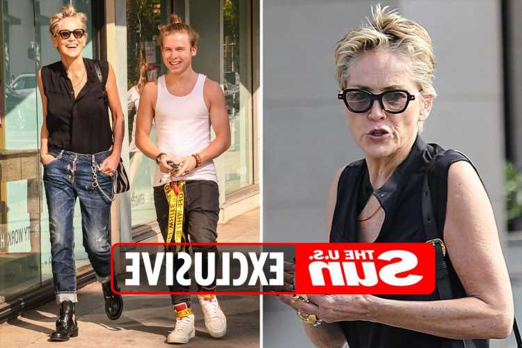 Sharon Stone, 63, steps out with rarely-seen son Roan, 21, after rumors she's dating 25-year-old rapper RMR