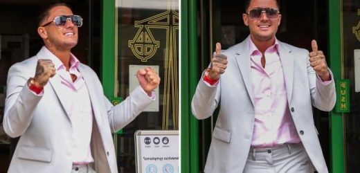 Stephen Bear says he's jetting off to Turkey after his court appearance today as he turns up in Prada suit