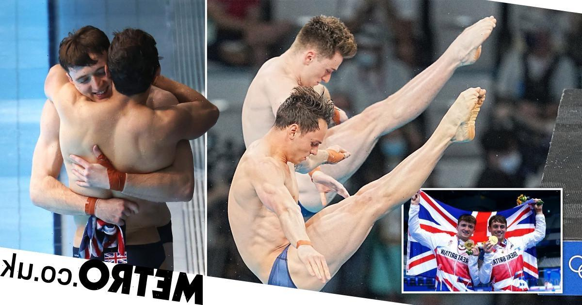 Tom Daley's husband Dustin Lance Black crying 'so many tears' as diver wins gold