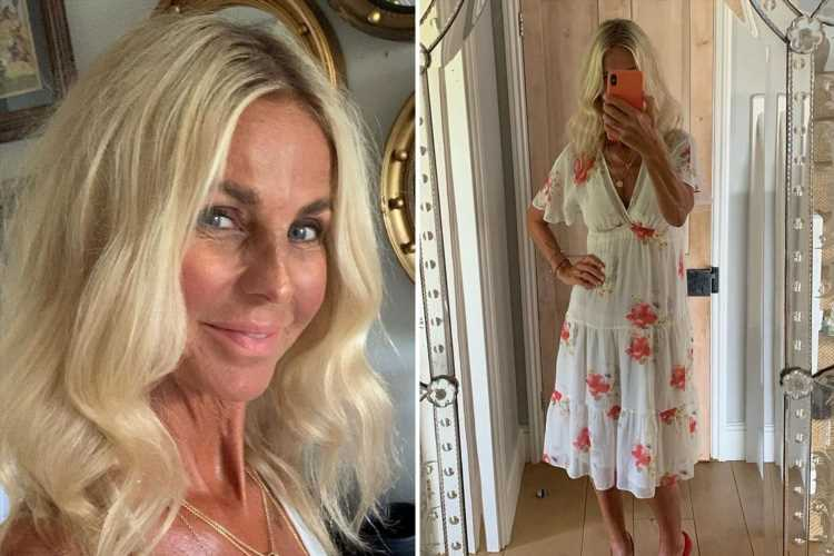 Ulrika Jonsson glams up as she goes on a lunch date with a mystery 'gentleman'