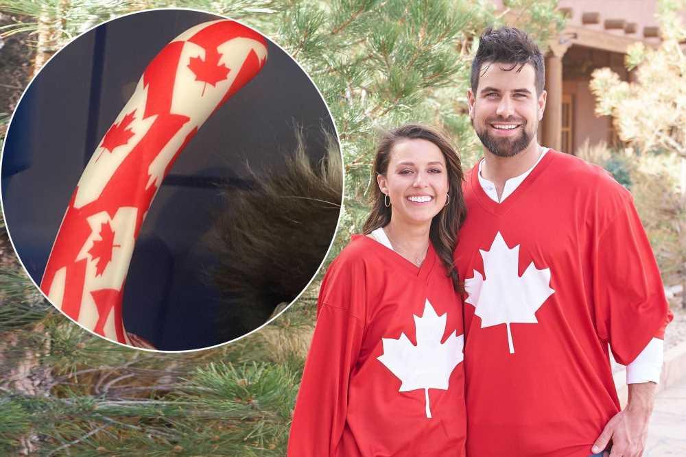Bachelorette star Blakes mom gifted Katie Thurston a Canadian flag dildo