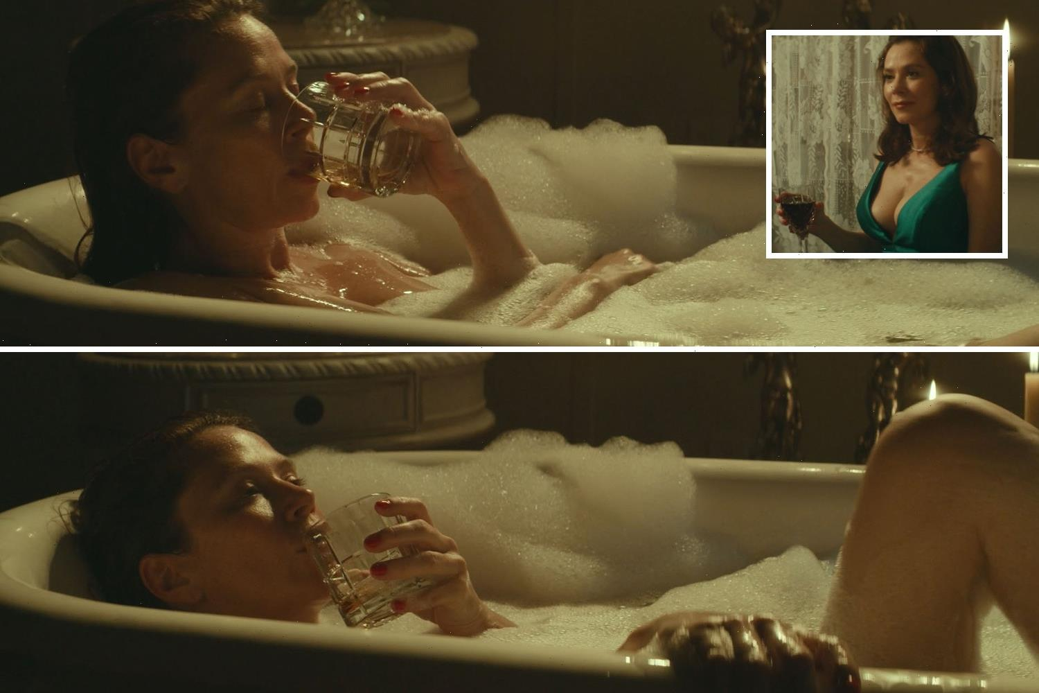 Anna Friel strips naked for steamy bath scenes in new drama Charming the Hearts of Men