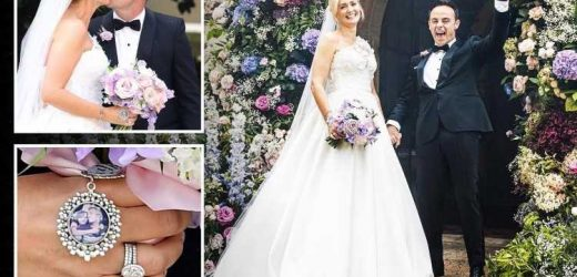 Ant McPartlin says he 'struggled to hold it together' as new bride Anne-Marie walked down the aisle