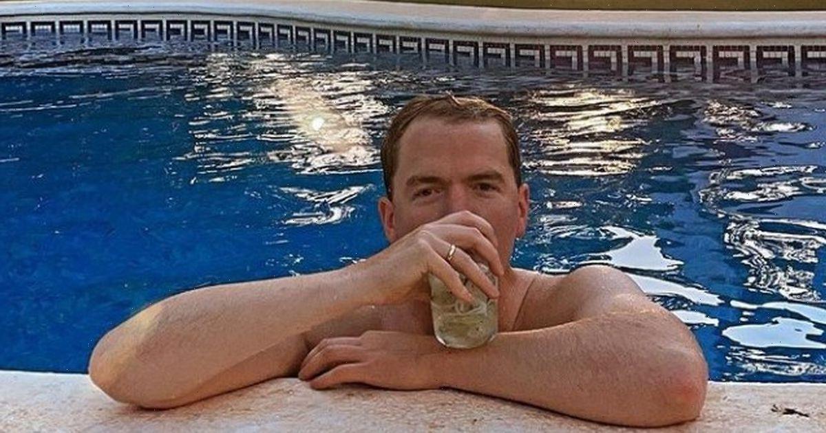 Binky Felstead shares photo of new husband Max Darnton relaxing on their honeymoon