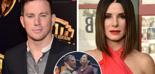 Channing Tatum Throws Sandra Bullock Into Pool After Filming Wraps on New Movie