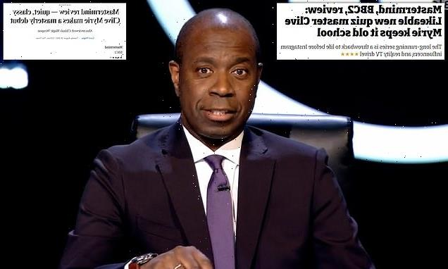 Clive Myrie wins rave reviews following his Mastermind debut