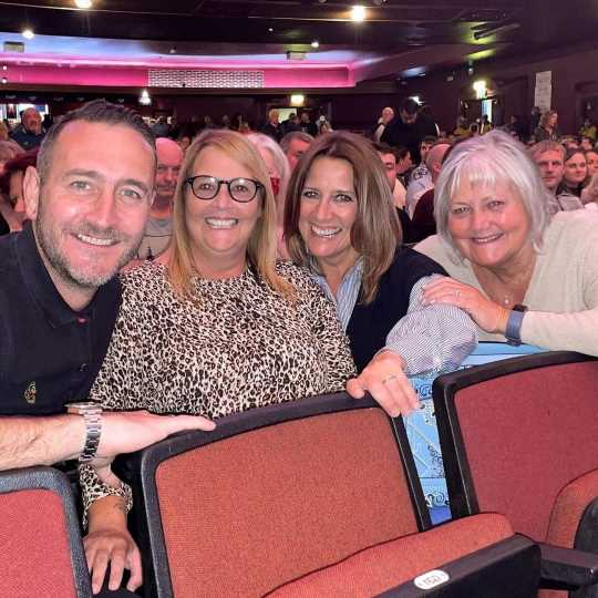 Coronation Street star Will Mellor shares rare snap with lookalike family as they watch Peter Kay live