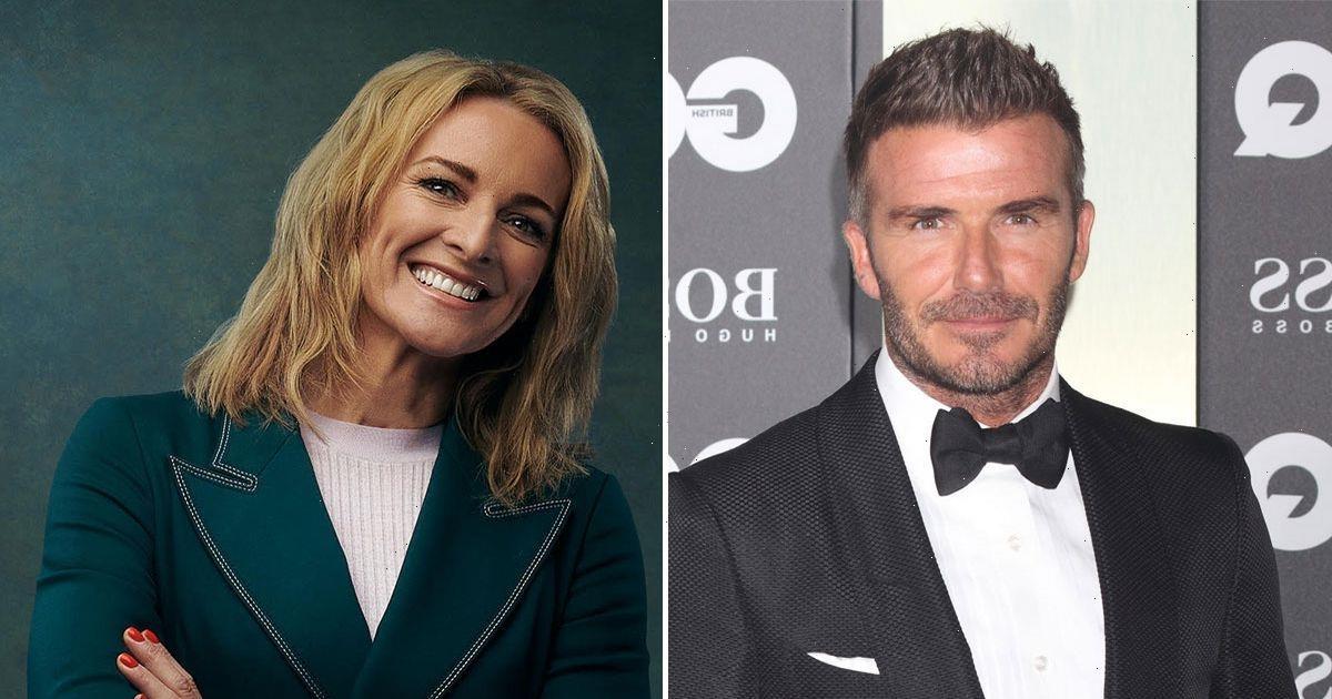 Gabby Logan says Goldenballs David Beckham has so much money he smells rich