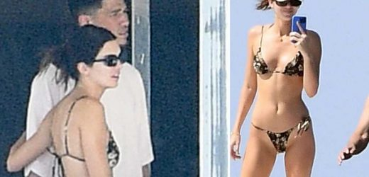 Kendall Jenner wears barely-there bikini yachting with Devin Booker