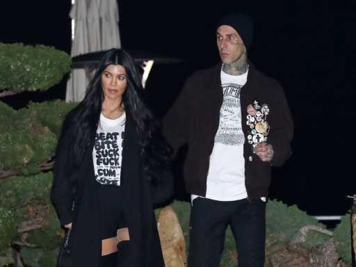 Kourtney Kardashian & Travis Barker Share Passionate Photos Enjoying Their Vacation in Italy