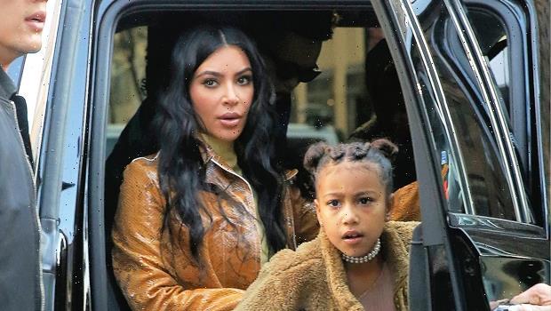 North West, 8, Rocks Wild Fake Face Tattoos In New Selfies With Mom Kim Kardashian