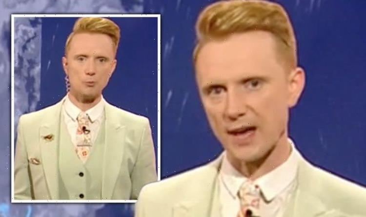 Owain Wyn Evans distracts BBC Breakfast viewers 'Eyes keeping getting drawn to it!'
