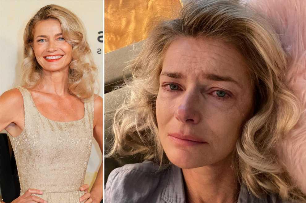 Paulina Porizkova shares crying selfie, says she was blindsided by betrayal