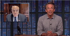 Seth Meyers Teases Rudy Giuliani for Joining Cameo
